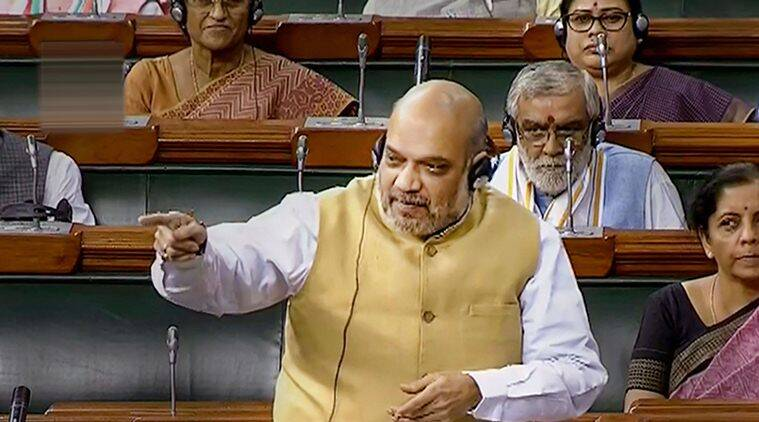 amit shah, home minister amit shah, asaduddin owaisi, aimim, All India Majlis-e-Ittehadul Muslimeen, amit shah owaisi, owaisi amit shah, parliament monsoon session, parliament session, nia bill, nia amendment bill, india news, Indian Express
