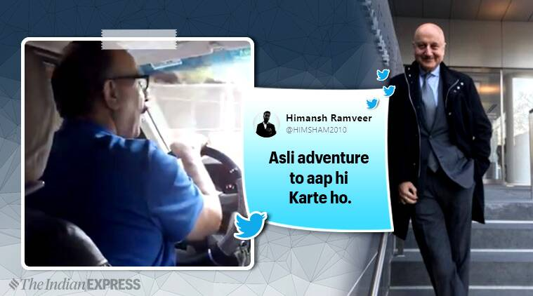 Anupam Kher, Anupam Kher in New York, Anupam Kher cab driver video, Trending, Indian Express, Latest