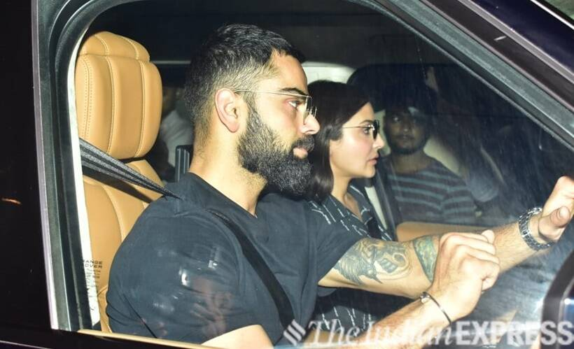 anushka, virat airport photos