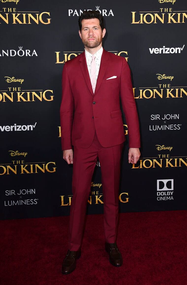 Billy Eichner at the lion king premiere
