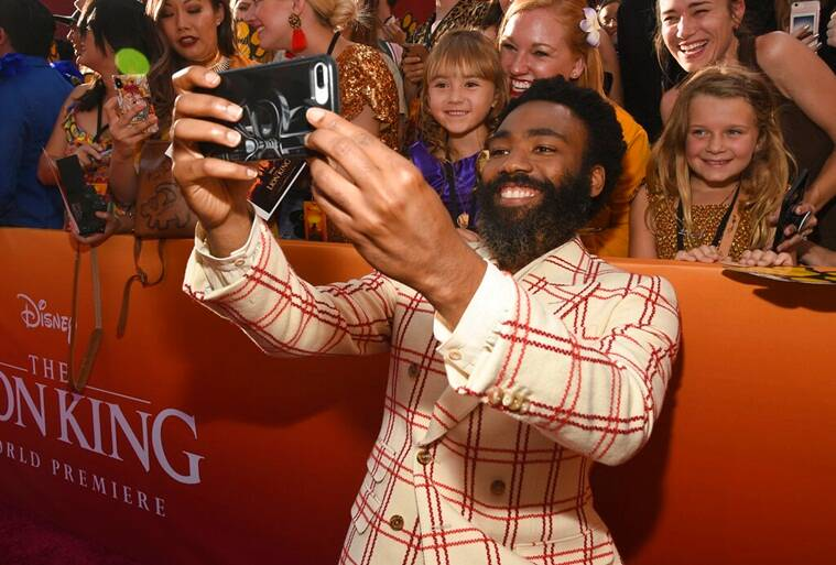 Donald Glover at The Lion King premiere