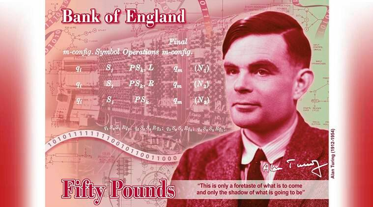 UK Computer Pioneer Alan Turing Face of 50 Pound Note