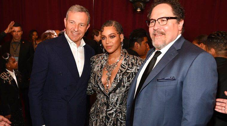 Bob Iger, Beyonce, Jon Favreau at The Lion King premiere
