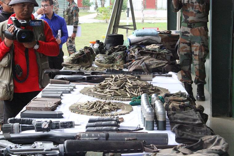 Army busts NSCM-IM camp, recovers huge cache of arms and ammunitions