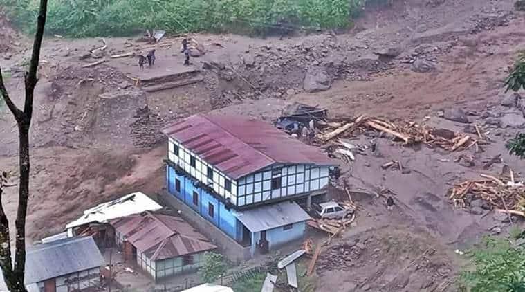 arunachal floods, arunachal pradesh flash floods, arunachal rainfall, arunachal news, arunachal weather forecast, arunachal cloud burst, express news, indian express news, arunachal news today