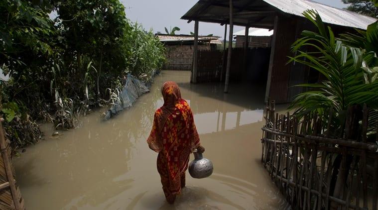 Assam, Assam floods, Assam flood relief, Assam flood latest, Kaziranga National Park, Kaziranga flooded, Assam weather, Indian Express news, Latest news