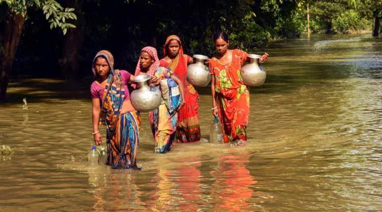 Floods, assam floods, Pm Modi, floods in assam, monsoon rains, kaziranga floods, assam flood fury, flood death toll, Assam Flood latest, Indian Express news,Latest mews
