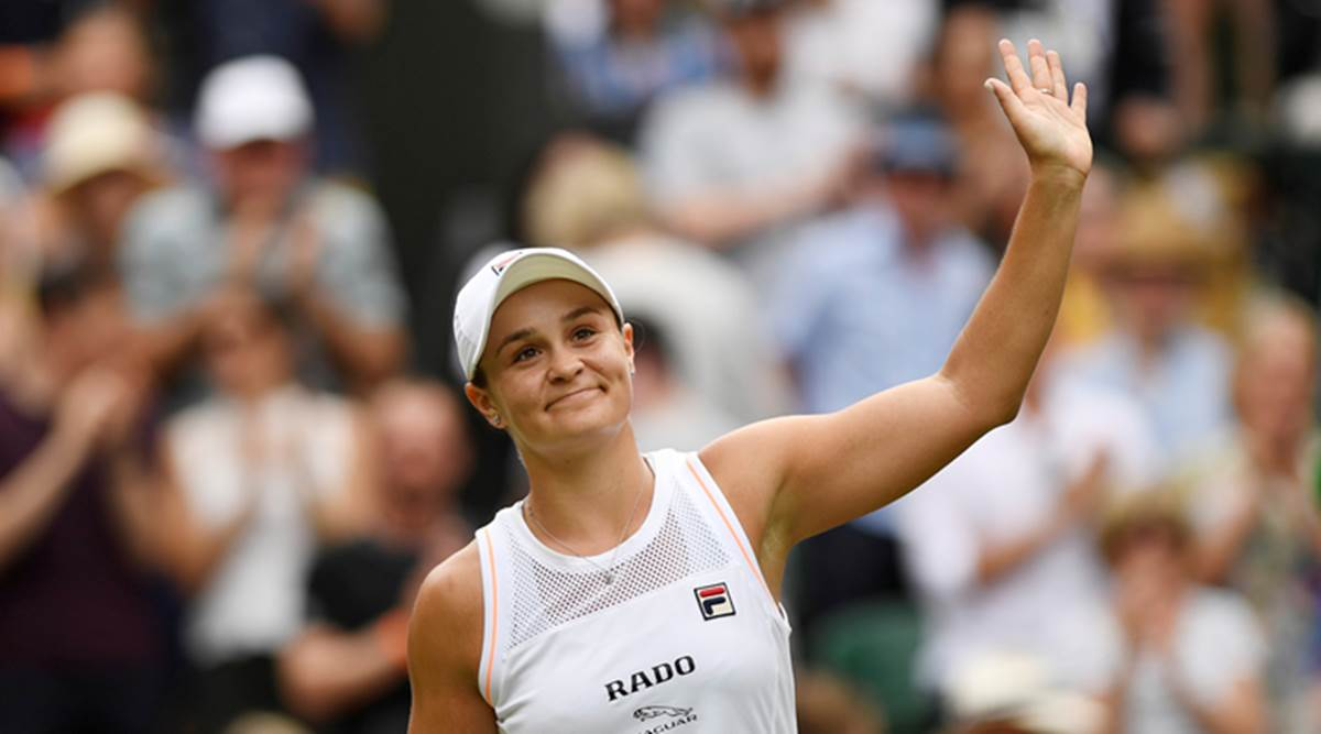 Ashleigh Barty in action in 2019