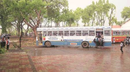aarey colony, mumbai aarey colony, aarey colony best buses, mumbai best buses, mumbai news indian express news