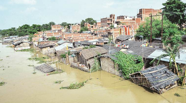 Bihar floods, Bihar floods death toll, Bihar floods news, bihar rains, bihar weather today, bihar monsoon, flash flood bihar, Nitish kumar, Indian express