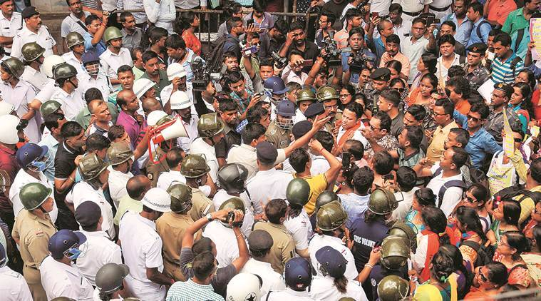 BJP leader Hazra detained after scuffle with police in Kolkata