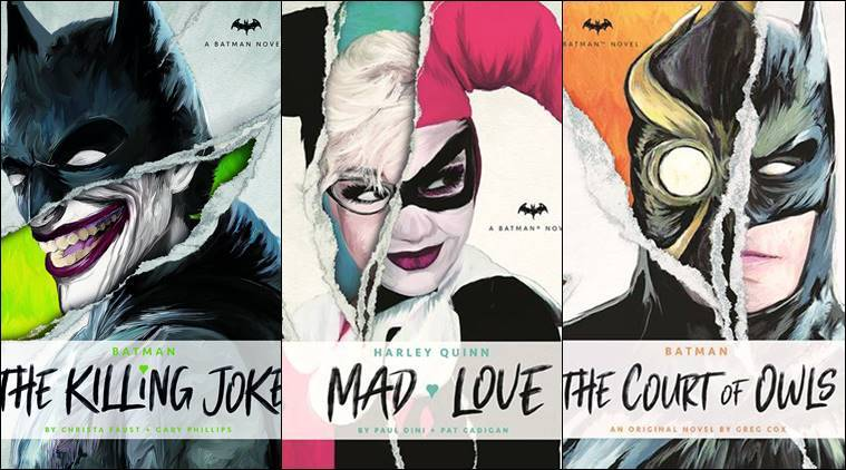 Three novels set in the Batman universe take the superhero into the realm of prose