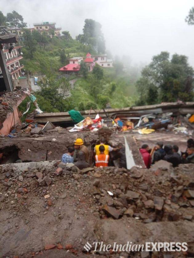 Building collapse, Solan building collapse,Indian Army, Himachal Pradesh,Himachal Pradesh building collapse, Kumarhattia Nahan road, India News, Indian Express