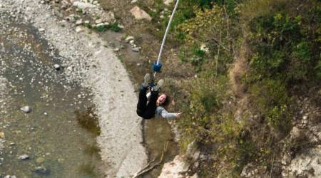 adventure sports india, bungee jumping, bungy jumping, indianexpress.com, indianexpress, rishikesh, jumpin heights, Goa,