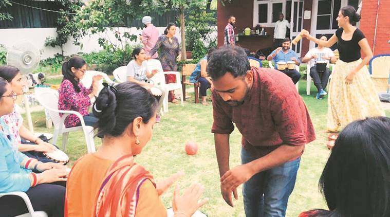 Drum Circle encourages Chandigarh residents to find their new rhythm
