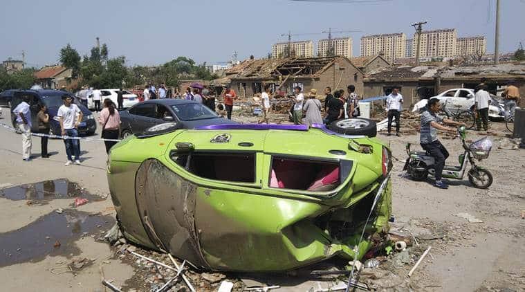 china tornado, tornado in china, chinese tornado, china weather, china tornado death toll, tornado death toll in china, tornado, world news, Indian Express