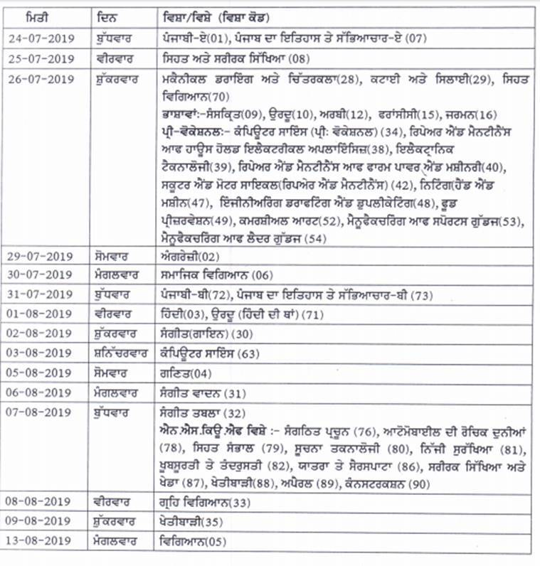 PSEB, pseb.ac.in, punajb baord, pseb 10th compartment datesheet, pseb.ac.in, pseb 10th compartment exam date, punjab board compartment exams, education news