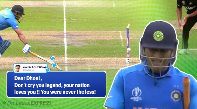 MS Dhoni, ind vs nz, india vs new zealand, dhoni run out, dhoni crying video, dhoni word cup semi, world cup semi final, ind v nz dhoni out, viral videos, indian express