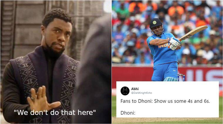 ind vs ban, india vs bangladesh, icc world cup, MS Dhoni, dhoni low score, dhoni memes, dhoni low runs memes, indian express