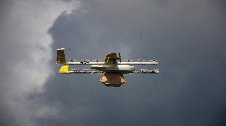 OpenSky, OpenSky Drone App, Wing Drone Delivery, Wing Drone Delivery News, Amazon Drone Delivery, Drone Delivery, Indian Express