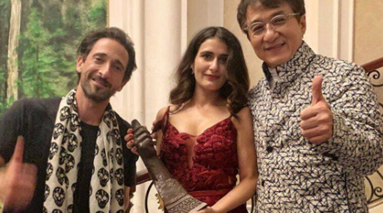 Fatima Sana Shaikh with Jackie Chan, Adrien Brody in China