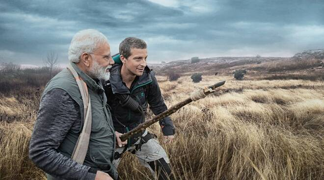 man vs wild with modi and bear grylls