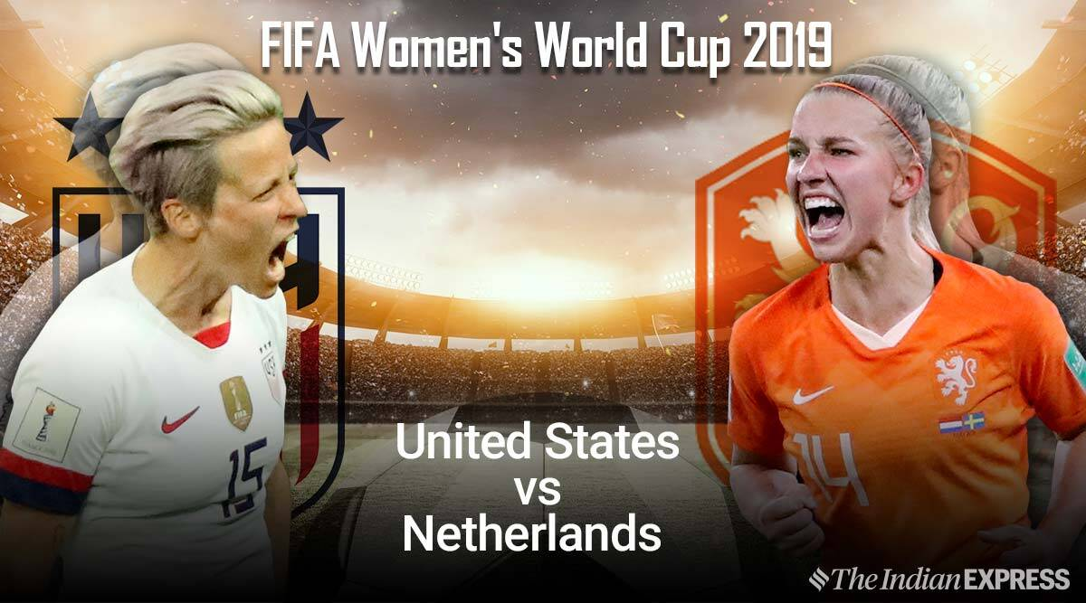 FIFA Women's World Cup 2019 Final Live Score, United States vs Netherlands Live Score Streaming