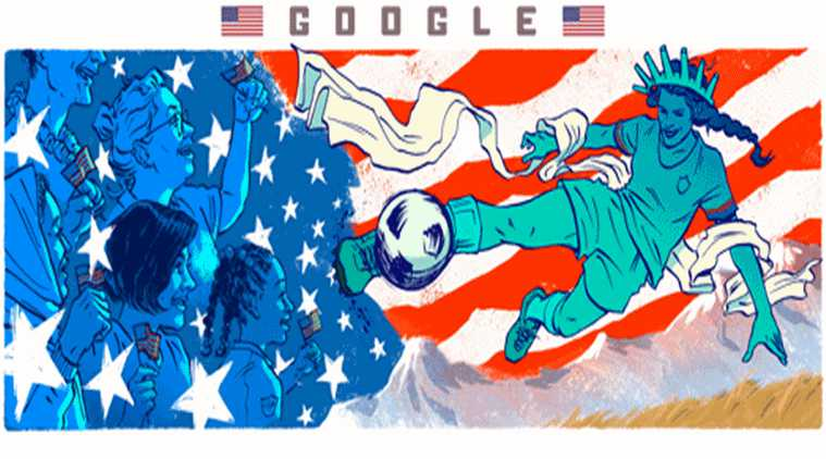 Google doodle, Google doodle celebrates women's world cup, women's world cup 2019, women's world cup news, women's world cup latest, MS Dhoni, happy birthday MSD, 2019 FIFA Women's World Cup news, 2019 FIFA Women's World Cup latest, 2019 FIFA Women's World Cup news, who plays 2019 FIFA Women's World Cup, players 2019 FIFA Women's World Cup, women's world cup sports, sports news, indianexpress.com, indianexpressonline, indianexpressnews, indianexpress, goodgle doodle today, google doodle women's world cup 2019 fifa, fifa news, Google latest, google doodles, USA vs Netherlands, the United States and the Netherlands,