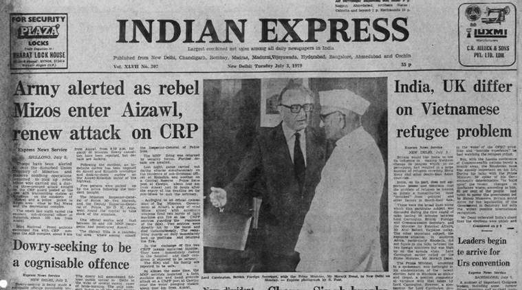 Forty Years Ago, July 3, 1979: Mizoram violence