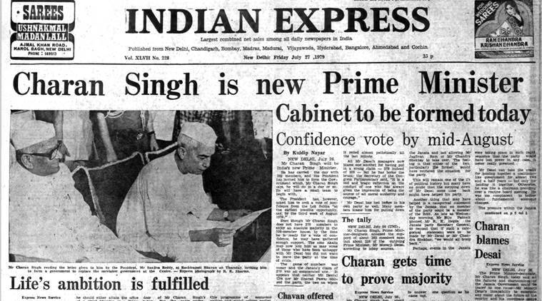 Forty years ago july 27 1979 charan singh