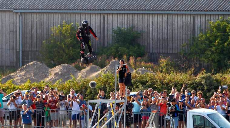 French 'flying man' fails to cross Channel on jet-powered hoverboard