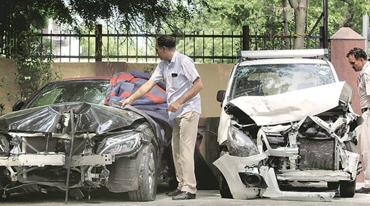 Delhi, Delhi news, Delhi GK, Delhi GK I, Delhi accident, Delhi GK I accident, Delhi CRPF accident, Delhi road accident, Indian express