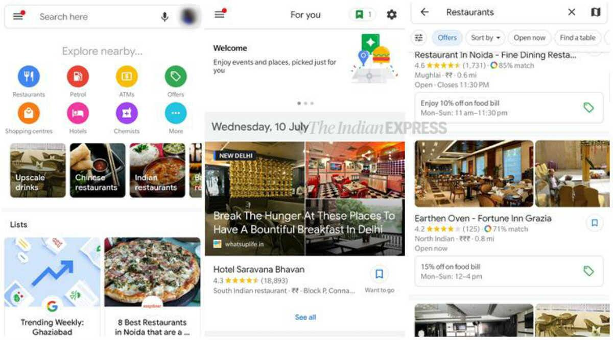 Google Maps in India now comes with Explore, For You tabs