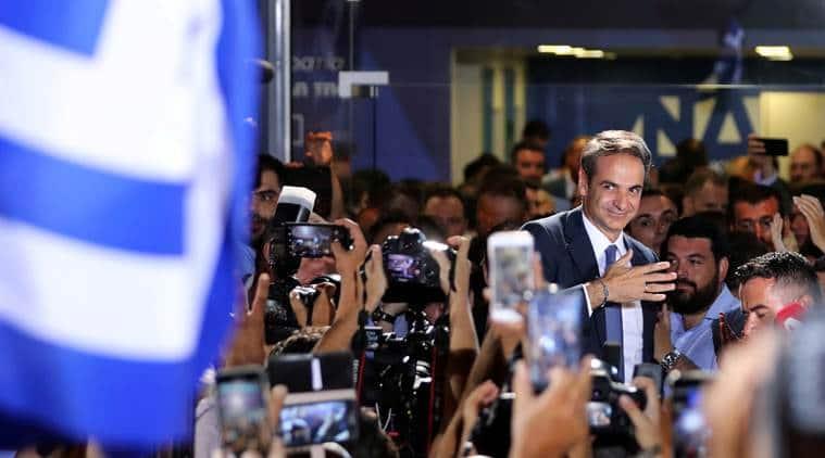 Greece's new Prime Minister Kyriakos Mitsotakis vows growth