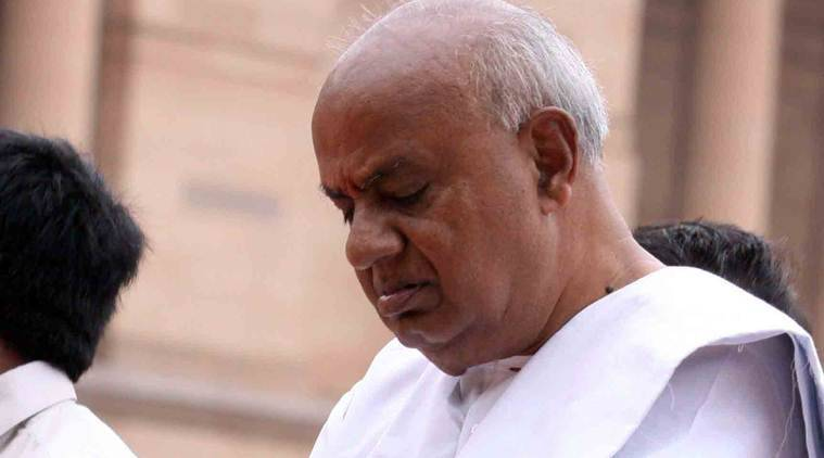 jds mlas expelled, jds karnataka mlas expelled, JD(S), Janta dal secular, karnataka politics, congress jds mlas, karnataka government, bjp, hd devegowda, kr ramesh kumar, karnataka new speaker, vishweshwar hegde kageri, indian express news