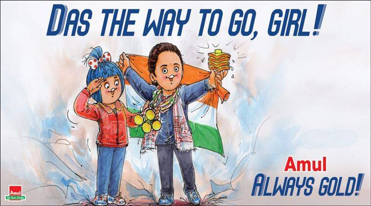 hima das, hima das gold, hima das four gold, amul cartoon, latest amul cartoon, hima das assam floods, hima das gold medals, india news, sports news, indian express