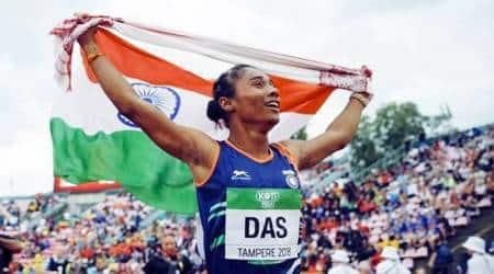 hima das, hima das olympics, hima das race, indian athletics, tokyo 2020, hima das tokyo 2020, hima das best time, indian sports news, hima das records, india athletics records