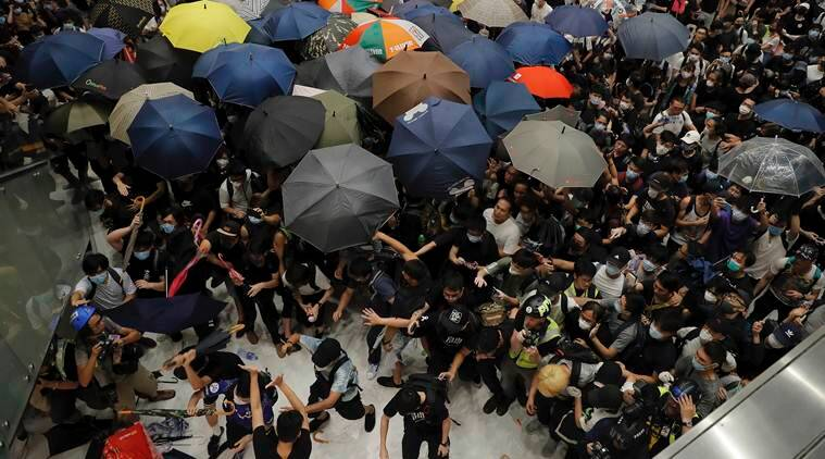 hong kong, hong kong protests, china, extradition bill, carrie lam, communist party, protesters, police, world news, indian express news