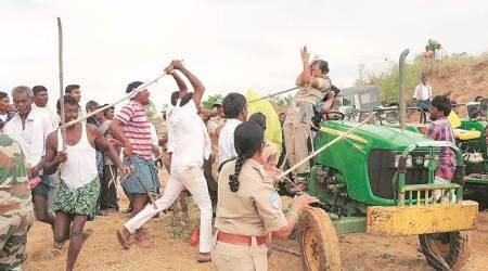 telangana, forest official assaulted, telangana official assaulted, telangana forest official, trs mla, trs mla brother, forest staff attacked, indiam express