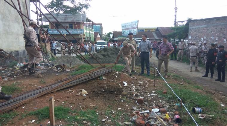 ied, ied explosion, ied blast, ied blast manipur, rath yatra, sushindro singh, police, manipur police, bjp mla sushindro singh, rath yatra, indian express news