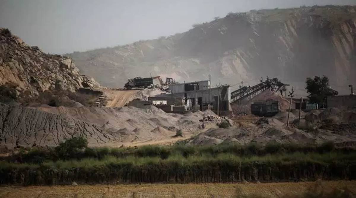 Rajasthan news, Rajasthan illegal mining cases, Rajasthan government, Rajasthan govt data on illegal mining, Indian express