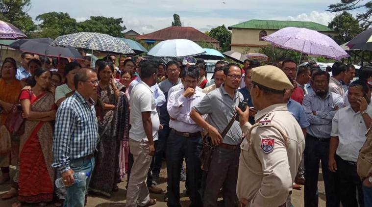 manipur teachers, manipur goverment teachers, manipur teachers protest, manipur government teachers protest, protest by manipur teachers, manipur news