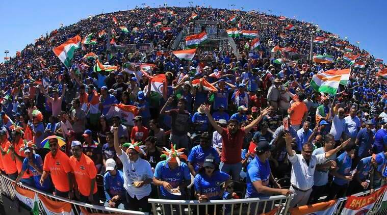 Icc cricket world cup 2019 england uk india ties wales sea of blue fans stadium