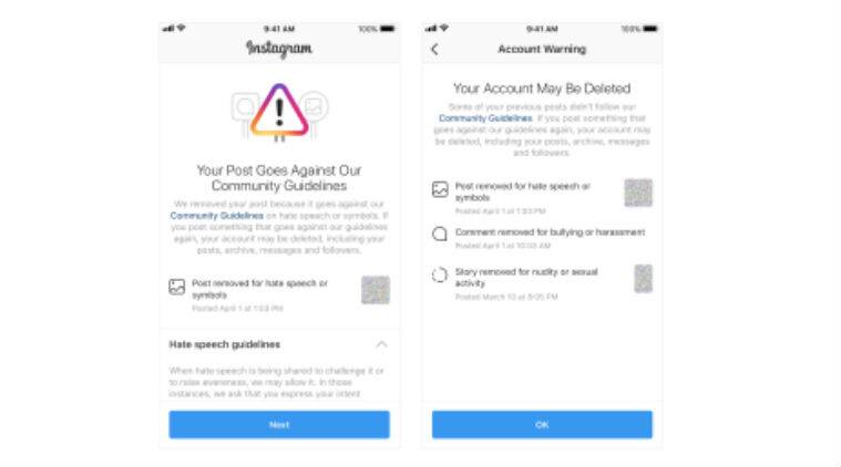 Instagram will now warn users before deleting their accounts