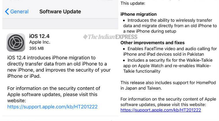 ios 12.4, ios 12.4 update, apple ios 12.4 update, ios 12.4 security fix, iphone migration, iphone migration tool, iphone data transfer, ios 12.4 walkie talkie, walkie talkie, ios 12.4 security fix