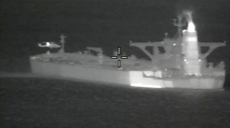 iran oil tanker, iranian oil tanker, british royal marines, gibraltar, suez canal, strait of gibraltar, iran syria relations, syria iran, iran attacks on syria, world news, Indian Express