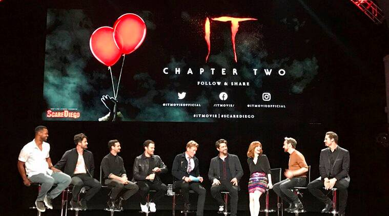 It Chapter two stars Isaiah Mustafa, Andy Bean, James Ransone, Bill Hader, Conan O'Brien, Andy Muschietti, Jessica Chastain, James McAvoy, Jay Ryan at comic con in san diego