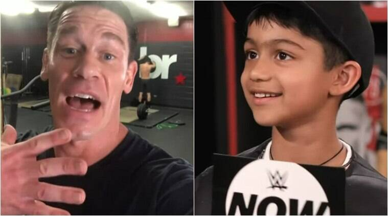 Viaan Raj Kundra fan moment with WWE star John Cena