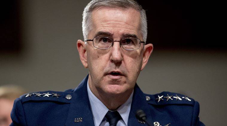 united states, us, donald trump, air force, air force general us, john hyten, general john hyten, sexual misconduct, military officer, congress, investigation, evidence, world news, indian express news