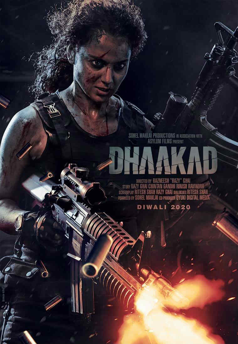 Kangana Ranaut dhaakad poster